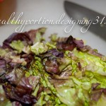 chopped, wilted lettuce