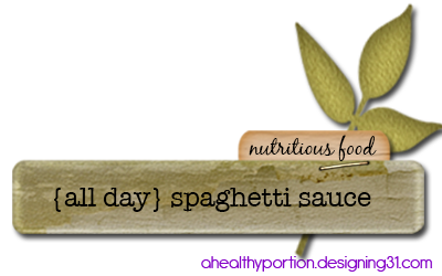 {all-day} spaghetti sauce